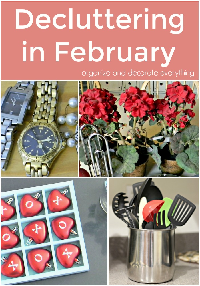 Decluttering in February monthly decluttering series