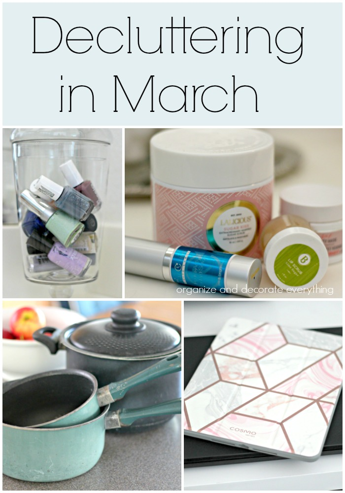 Decluttering in March monthly decluttering series