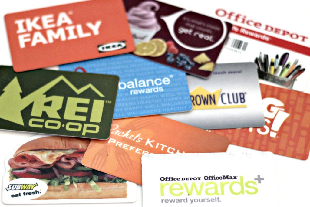 March declutter loyalty cards