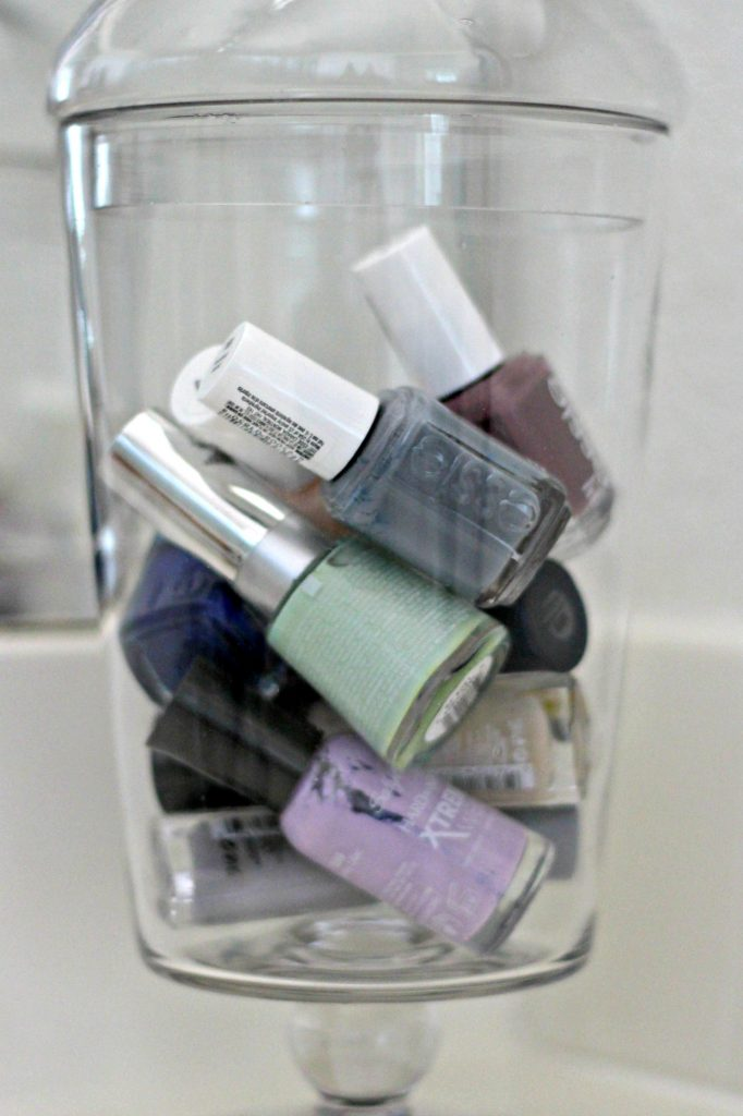 March declutter nail polish