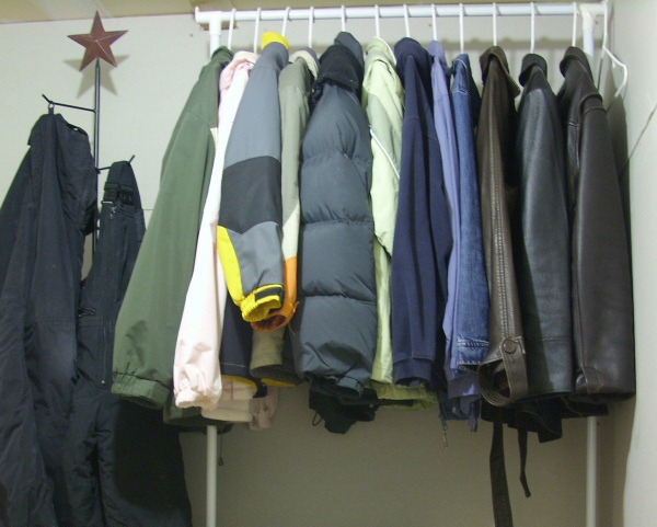 April declutter Winter clothes