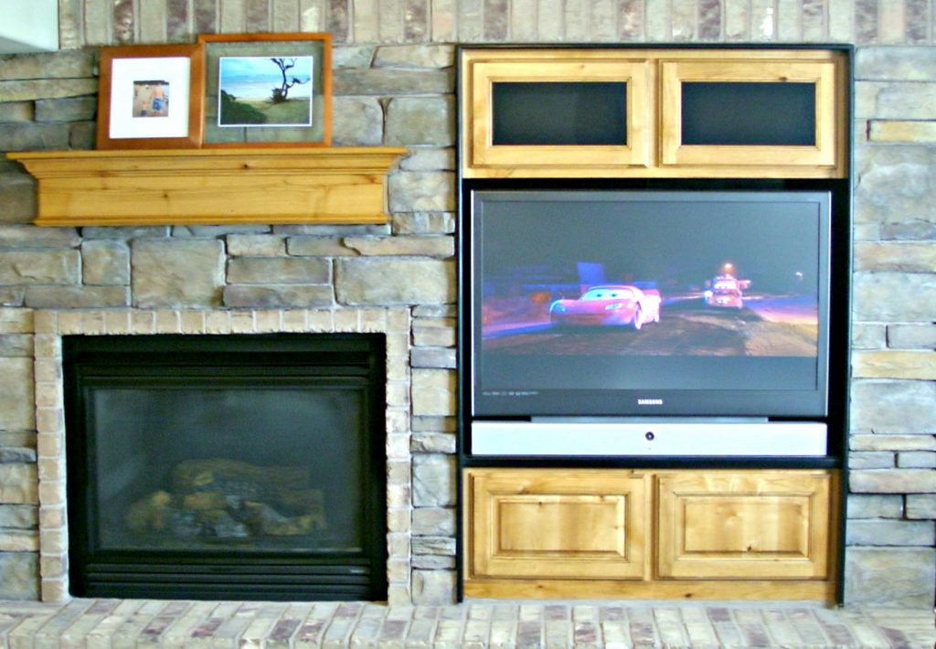 April declutter entertainment center