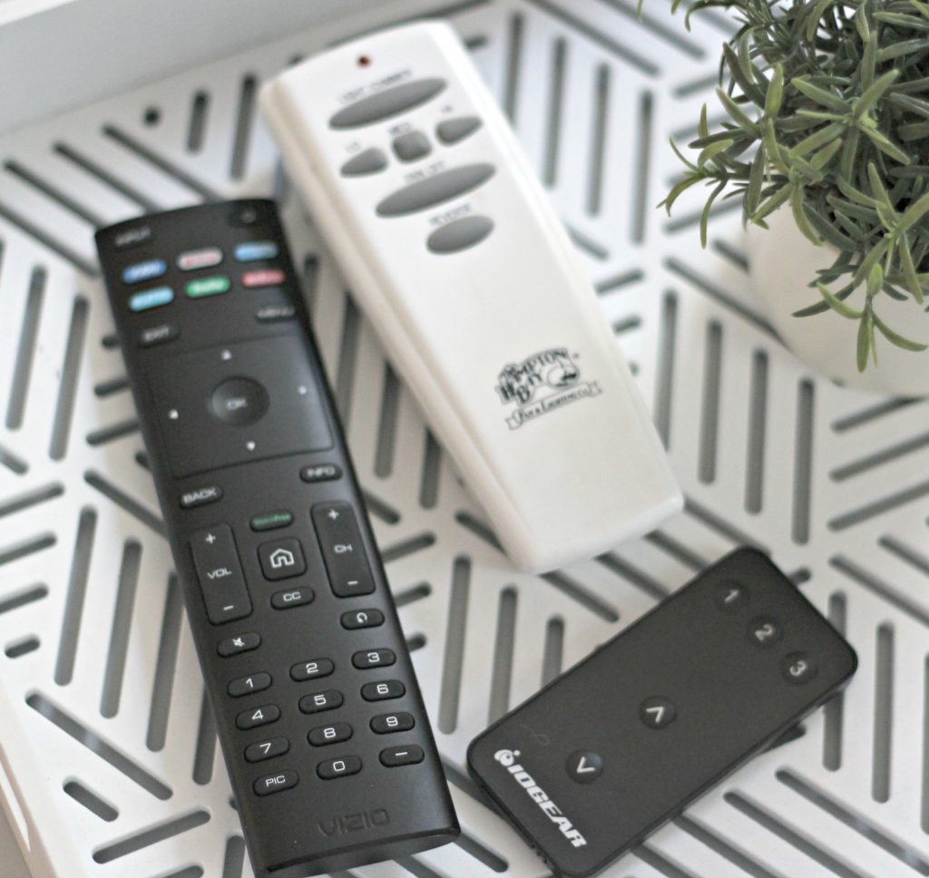 April declutter remote controls