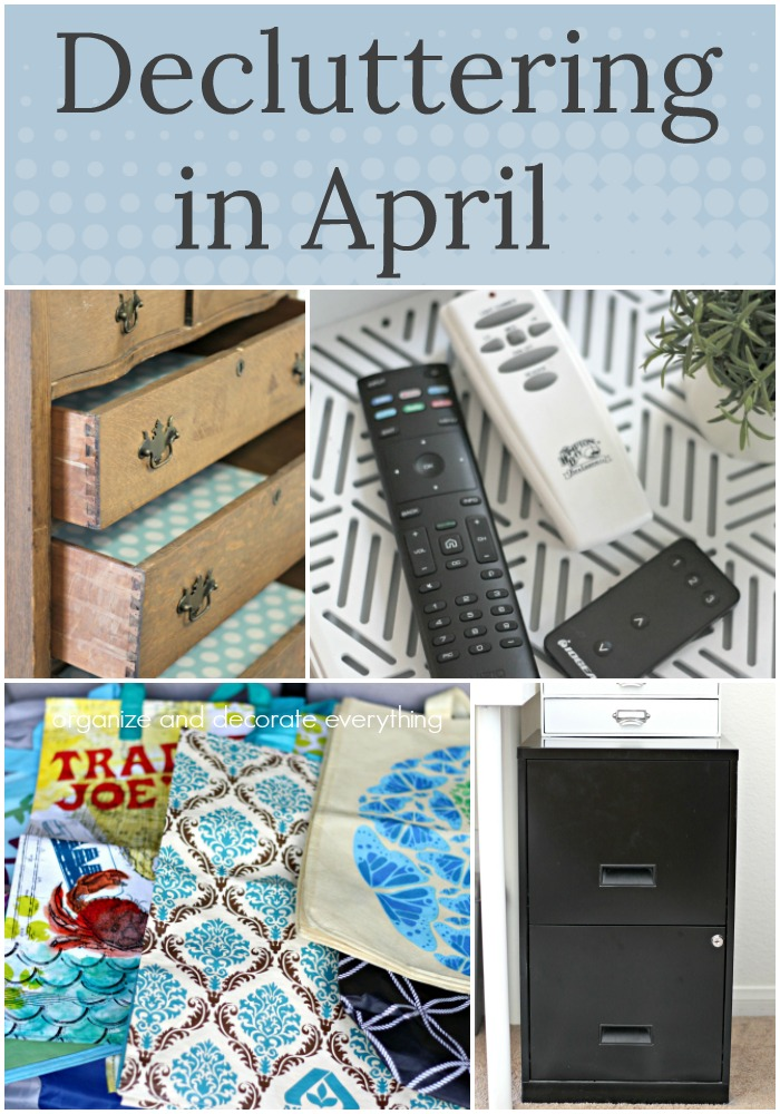 Decluttering in April monthly decluttering series