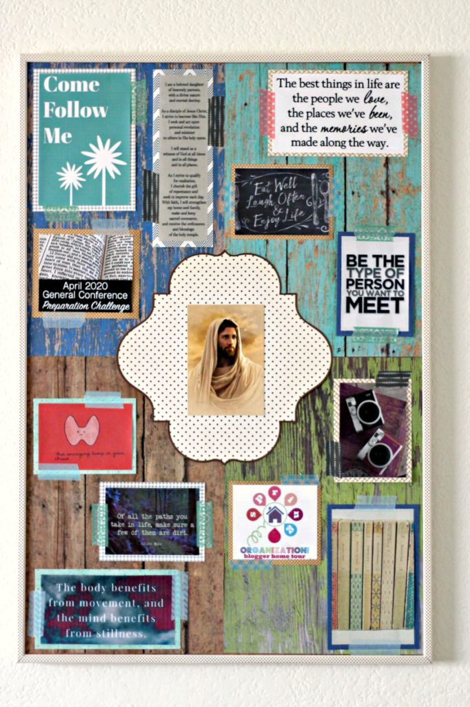 Creating a Vision Board with goals