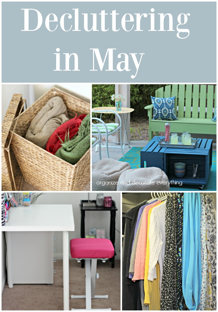 Decluttering in May monthly decluttering series