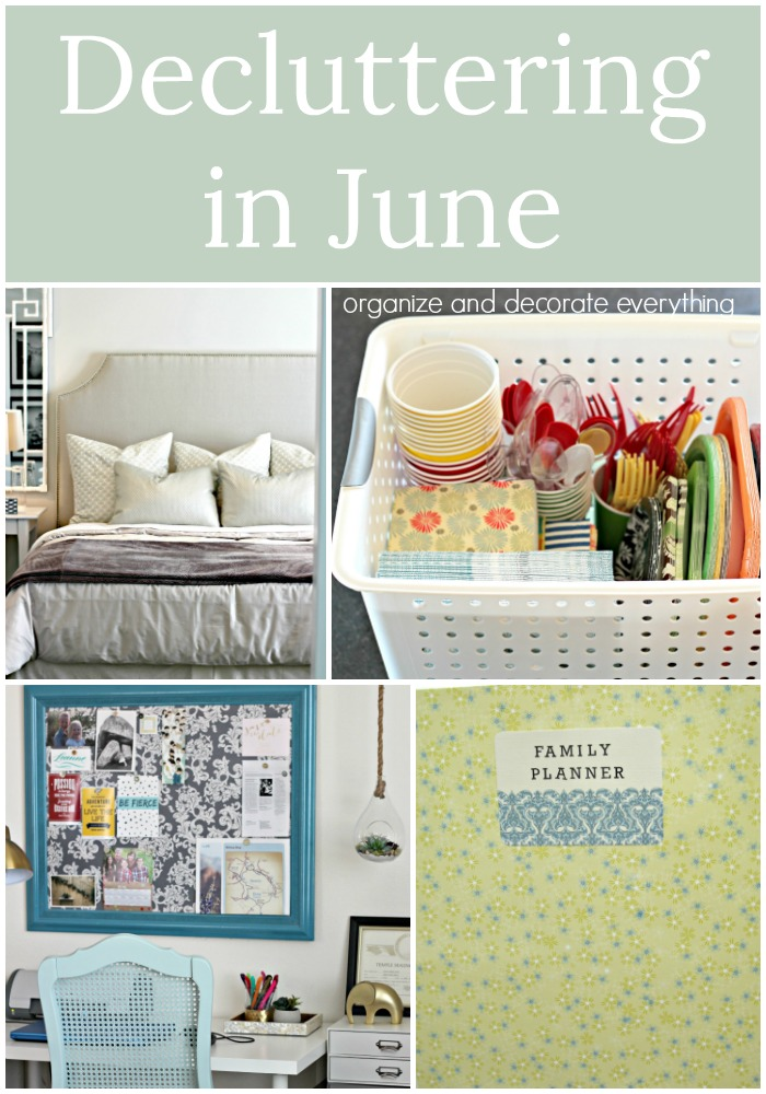 Decluttering In June monthly challenge